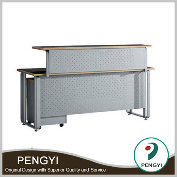 Nice Sample Design Modern Metal Front Desk Table Price,front Counters Table New  Design