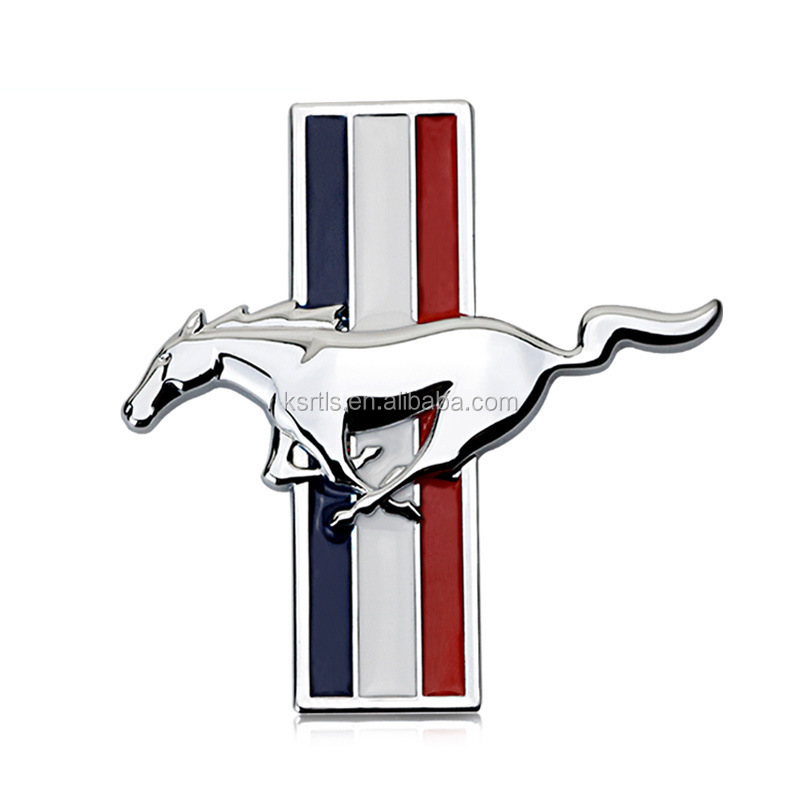 horse car badge horse car emblem with plating chrome