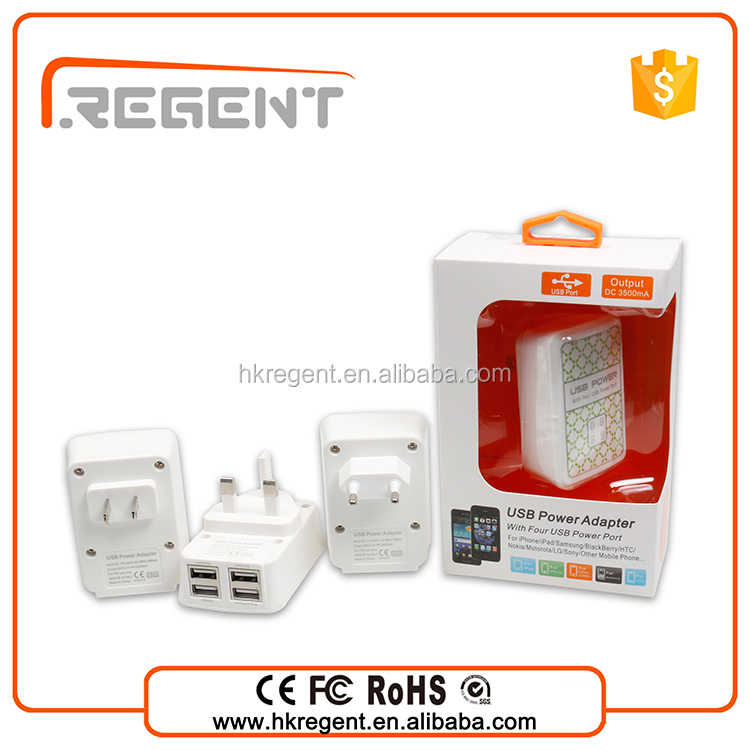 Wholesale universal USB mobile phone travel charger adapter