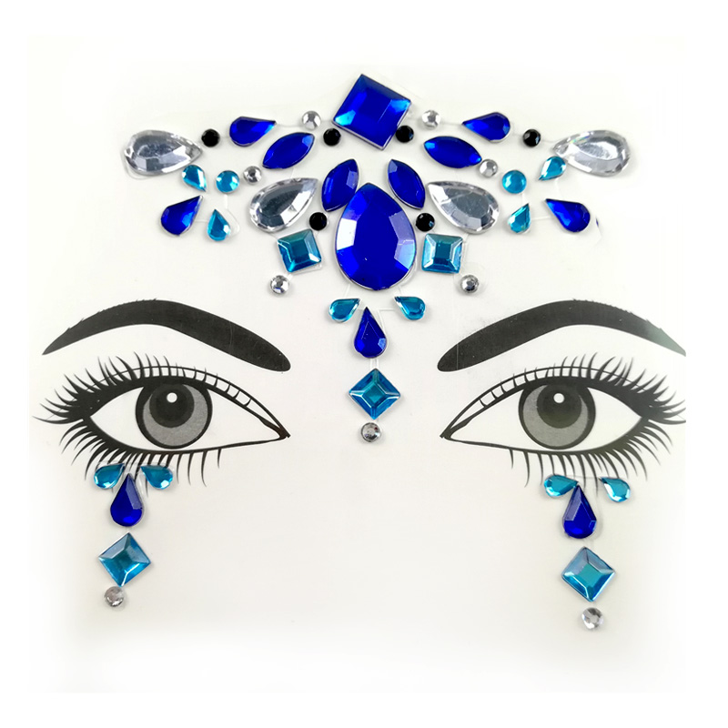 Festival party edelsteine acryl augen make-up jewel bindi gesicht kristall aufkleber