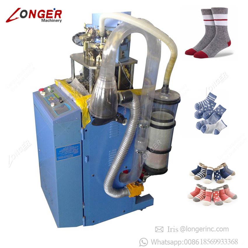 Terry Jacquard Automatic Computerized Linking Machinery Korea Cotton Socks Sewing Making Equipment Sock Knitting Machine