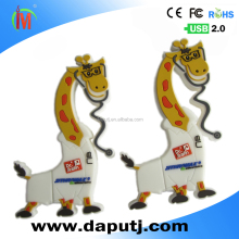 common usb pen drive animal usb flash drive special design 2D cheap usb flash drive giraffe shape
