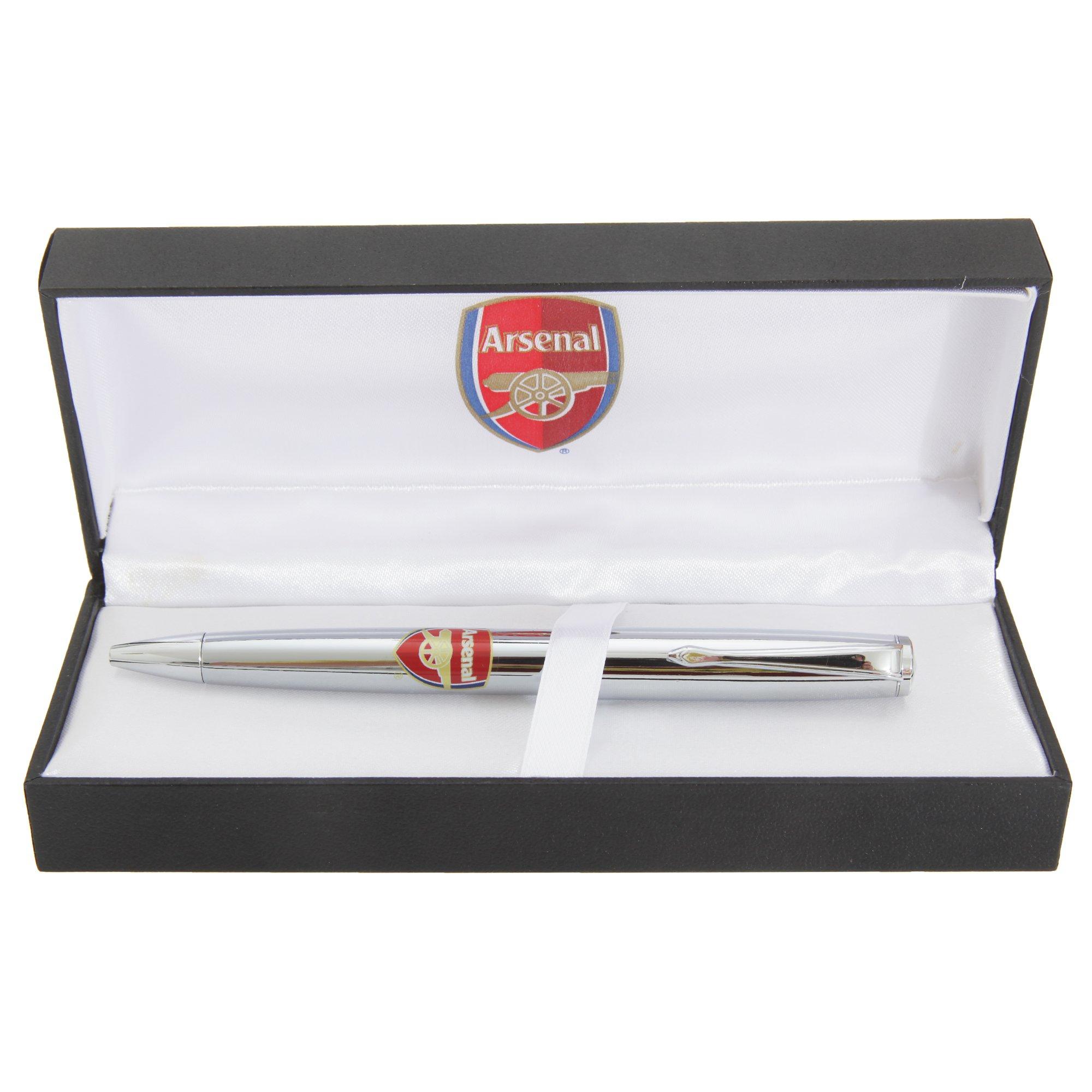 Arsenal FC Official Chrome Football Crest Ball Point Pen