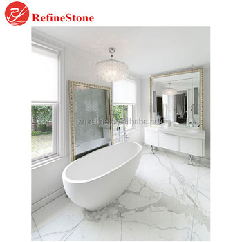 Landscape White Marble Floor Tiles,Factory Direct Polished Chinese ...