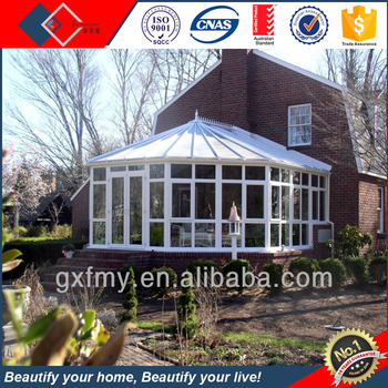 Strong Prefabricated Glass House Aluminum Sunroom