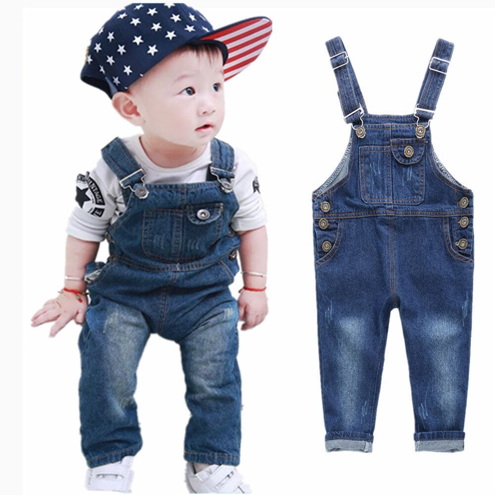 3-24 Months BAIXITE Baby /& Little Girls Soft Embroidered Denim Overalls Solid Lining Washed Jeans Dungarees