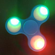 Hight Quality relieve stress ABS stainless steel led light hand fidget spinner toys r us
