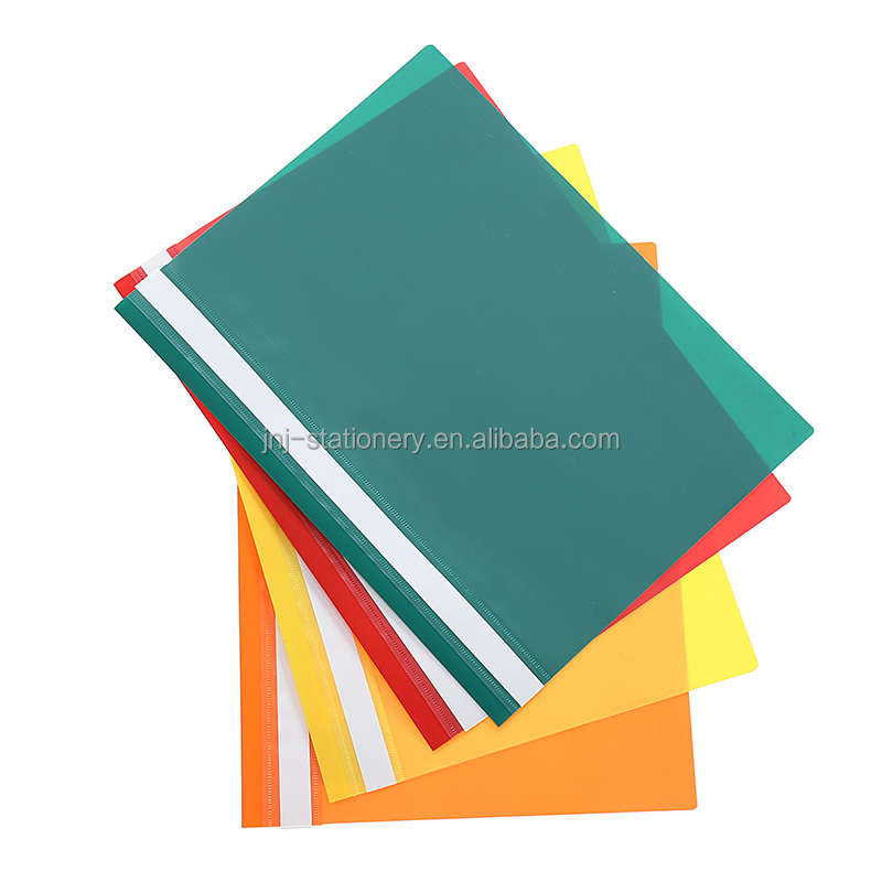 Wholesale pp plastic A4 report file file folder with fastener