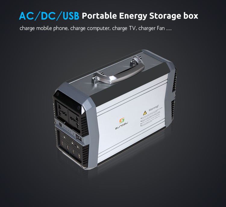 Sungzu AC and DC Outlet Li-ion Lithium Battery 300W Mini UPS Portable AC Power Bank