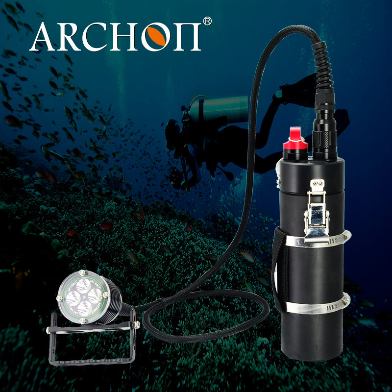 Archon WH46 adjustable canister Diving Flashlight Scuba torch Max 4000 lumen ip68 linterna de buceo bote