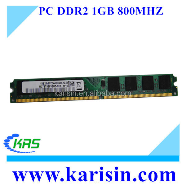 Full compatible 667 800 mhz ddr2 pc games 1gb ram with original chips
