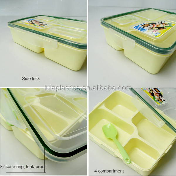 29379d638a4b Lula Wholesale 4 Compartment Plastic Lunch Box With Clip Lock - Buy Plastic  Bento Boxes,Plastic Lunch Box,Compartment Plastic Bento Boxes Product on ...