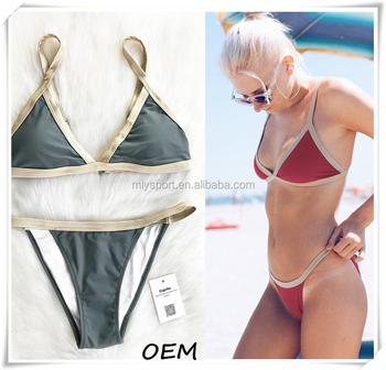 Casually Bikini mature women in swimsuits shaking, support