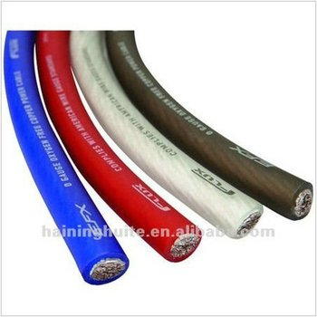 soft pvc car audio power cable ground cable various color buy car rh alibaba com Audio Cable to Speaker Wire Radio Shack 1 8 Audio Wiring