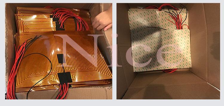 300*300 мм 3D принтер полиимидная нагревательная фольга, Электрический полиимидный пленочный нагреватель