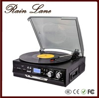Rain Lane 3 Speed Turntable Cassette Lp Multiple Optical Record Player With USB SD Slot