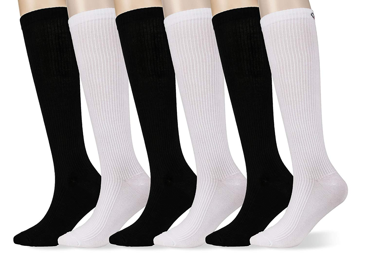 245c9354be Get Quotations · MD 6 Pairs Premium Cotton Summer Compression Socks for  Women & Men -Anti-DVT