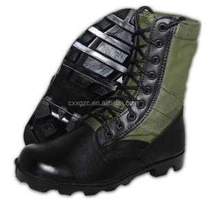 China Xinxing Leather Upper + Rubber Outsole Green Military Army Combat Jungle Boots
