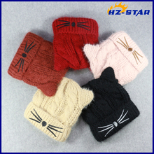 HZM-16956007 2017 custom high quality kid winter cute girl animal hat