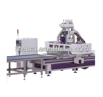 Professional Manfacturer factory MDF HDF FRP HPL solid wood board cutting machine/ auto-feeding unloading drilling cnc router