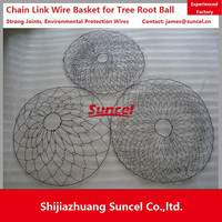 Suncel Chain Link Rootball wire mesh baskets for Tree Transplanting Steel wire basket