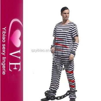 male prisoners cosplay costume halloween costume suppliers wholesale