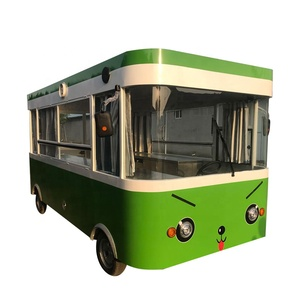 Modern design electric japanese food cart with four wheels