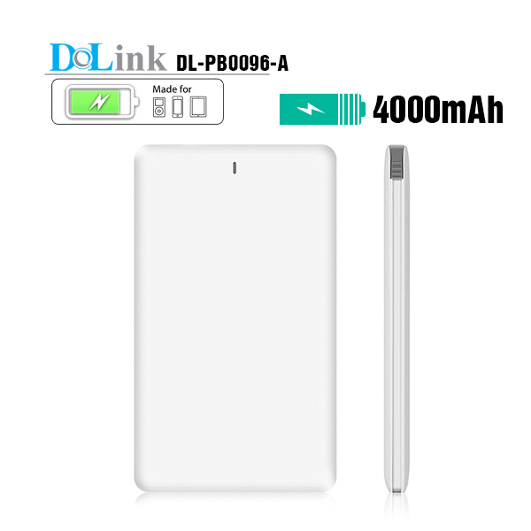 High Speed Wholesale Silm Portable 4000mAh Power Bank Charger, Mobile Phone Backup Power With Usb Cable