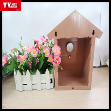 wooden birdhouse so funny see birds nesting happy bird house can be DIY painted
