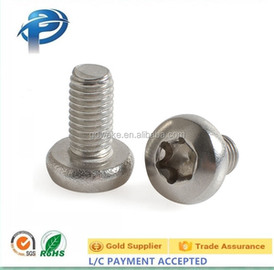 M3 M4 M5 anti-theft pan washer head self tapping screws,Stainless Steel 304 Pan Head Torx Drive Anti-Theft Screw M12