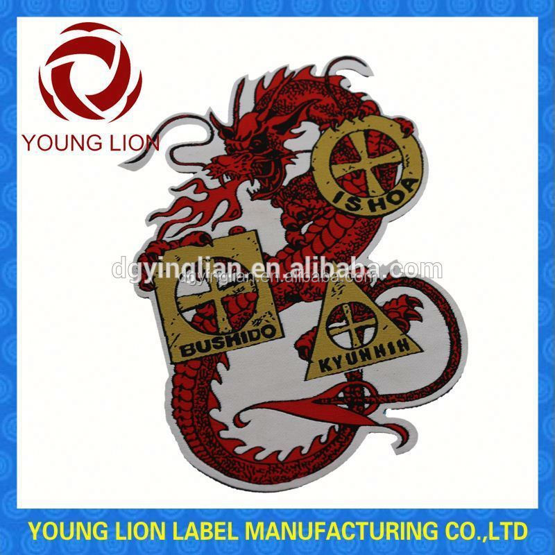 custom factory staff uniform clothing woven patches
