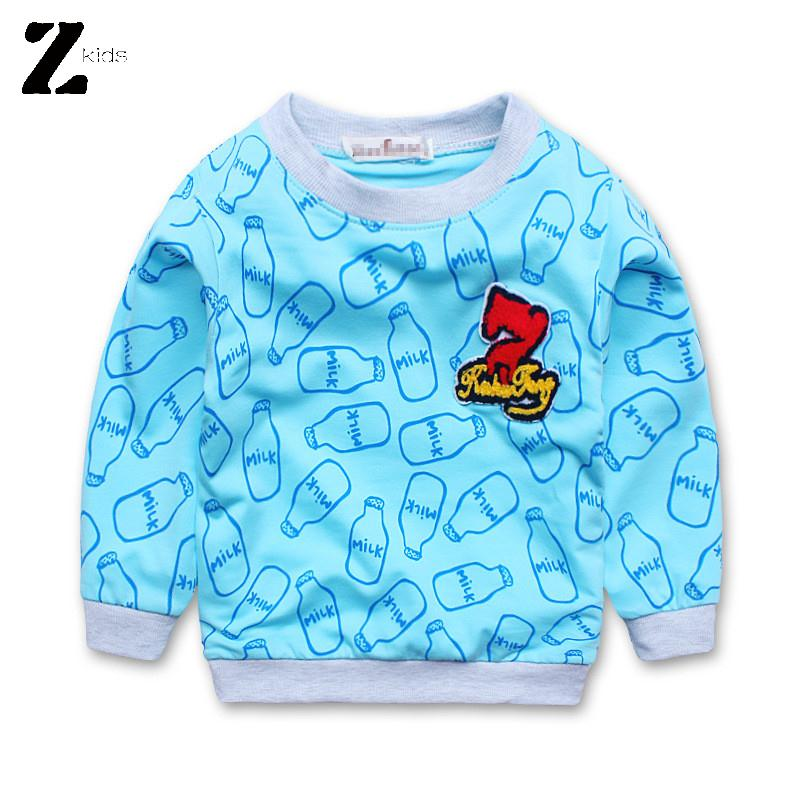 High Quality Cotton Long Sleeve Children T Shirts Girls Boys Unisex Tops Fashion Print Kids Spring Autumn Fall Clothes 2015