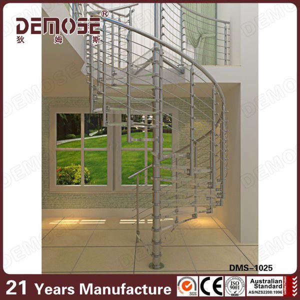 escalera de caracol de acero kits escalera de caracol interior barandilla de la escalera