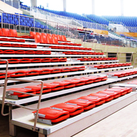 Retractable bleachers grand stand bleacher