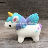 Scented cute unicorn shape PU squishy squeeze foamed toy