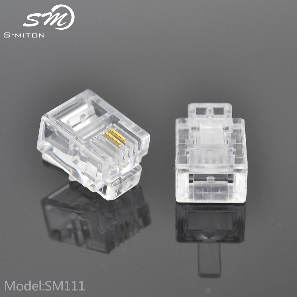 Wholesale plug 6pin telephone conector rj11 6p2c cable plug