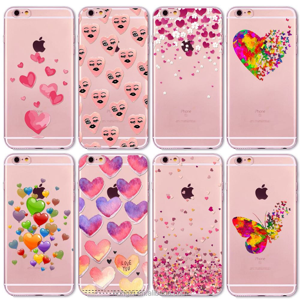 8c2dab09973 Acuarela mariposa Rosa amor corazón muchacha del recorrido para el iPhone 6  6 S 7 5