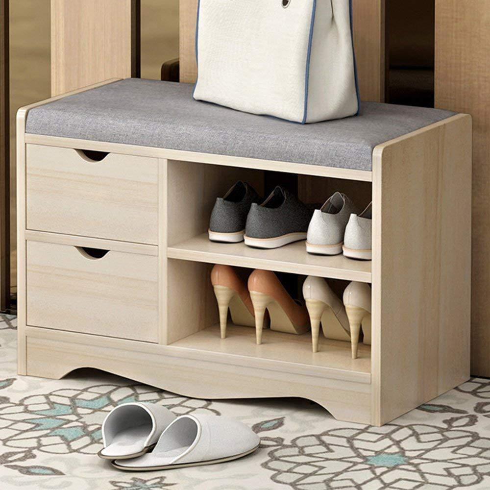 GWDJ shoe rack MDF Shoe rack with drawer Creative Wear Shoes Stool Shoe Rack Home Storage Shoe Rack (Color : 2#-A)
