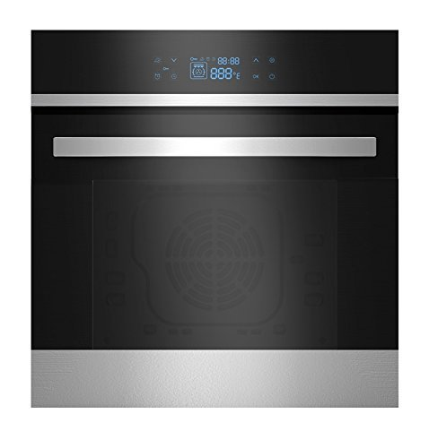 """Empava 24"""" Black Tempered Glass LED Digital Touch Controls Electric Built-In Single Wall Oven EMPV-24WOB21"""
