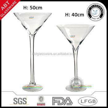 Nice Quality Tall Long Stem Clear Martini Glass Vase Buy Clear