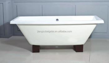 Verniciare Vasca Da Bagno Ghisa : Legno di quercia piedi doppio attacco vasca da bagno in ghisa bgl