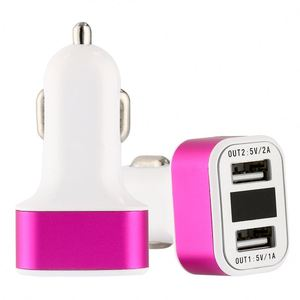 Car Charger QC 3.0 Dual USB Port Quick Charge 12V for Cell Phone