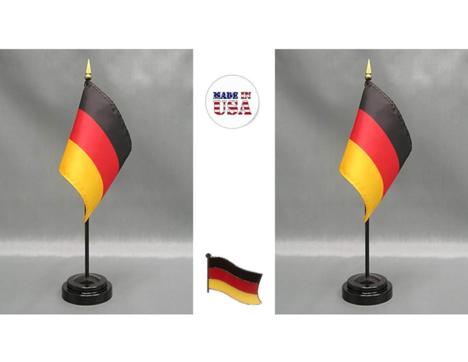 "German Germany Bundeswehr Eagle Flag 4/""x6/"" Desk Table Stick"