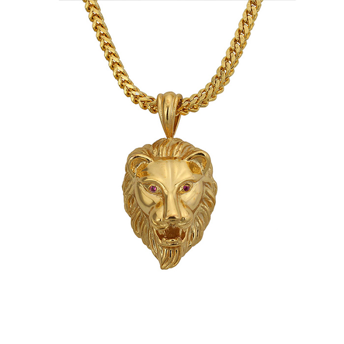 Missjewelry 18k lion head custom simple gold <strong>pendant</strong> design wholesale