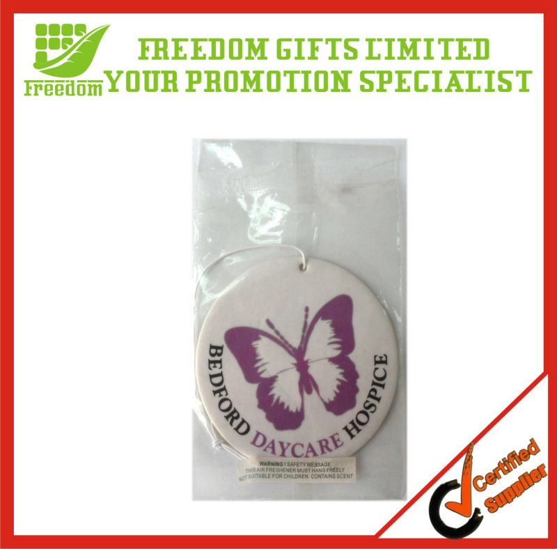 Customized Logo Printed Hanging Car Air Freshener