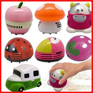 New Cute Mini Ladybug Beetle Desktop Vacuum Desk Dust Cleaner Portable,robot vacuum cleaner