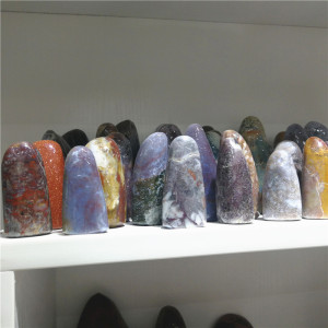 Wholesale High Quality India Agate Pillar Stone Crystal Stumbled Agate Stone For Decoration