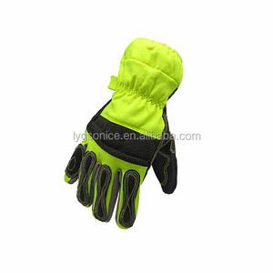 Firefighter rescue fire resistant sheepskin glove