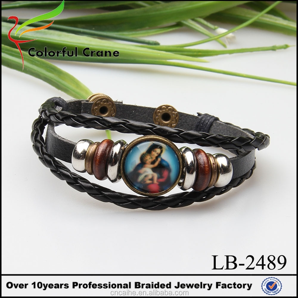Christian Festival Jewelry Virgin Mary and son Jesus bracelet
