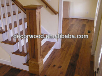 Charmant American Hickory Newel Posts White Risers And Stringers